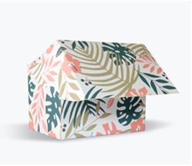 Packaging Estándar Caja automontable Soporte: Folding Simwhite Impresión a una cara CMYK Dimensiones 15x10x10 cm Plastificado: Digital Mate 25µ 1 cara